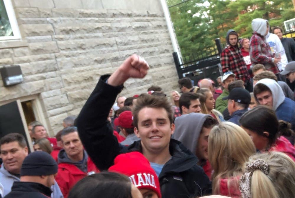 <p>Junior Jacob Schleinz poses for a photo at an event at his fraternity house, Sigma Chi. Schleinz, 20, died April 2. </p>
