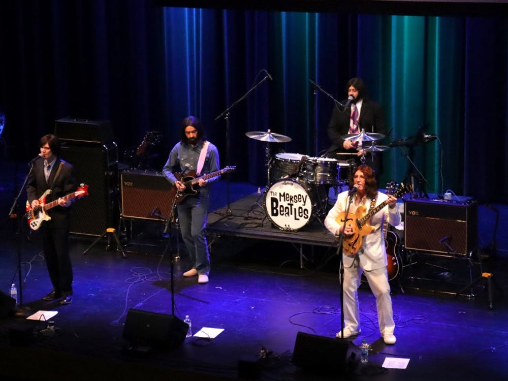 The Mersey Beatles perform on Oct. 16 at the Buskirk-Chumley Theater. The Beatles tribute band performed the entire Abbey Road album live.