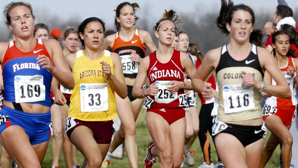 Junior Sarah Pease tries to pull ahead in the pack during the NCAA Cross Country Championships on Nov. 22 2010 at the Wabash Valley Family Sports Center in Terre Haute. IU begins its 2011 season on Sept. 10 at the Indiana Open in Bloomington.