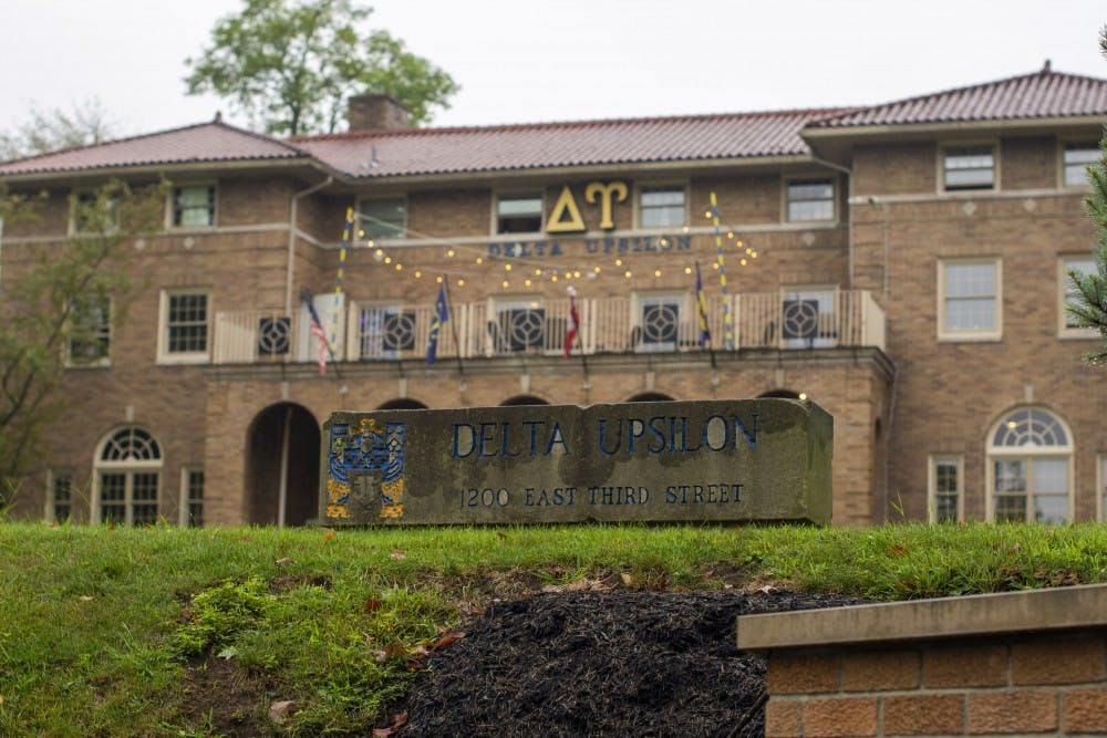 <p>The IU chapter of Delta Upsilon fraternity is located at 1200 E. Third St..</p>