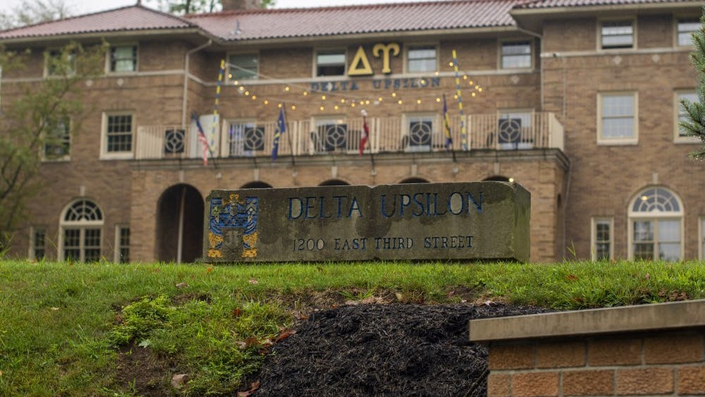 The IU chapter of Delta Upsilon fraternity is located at 1200 E. Third St..