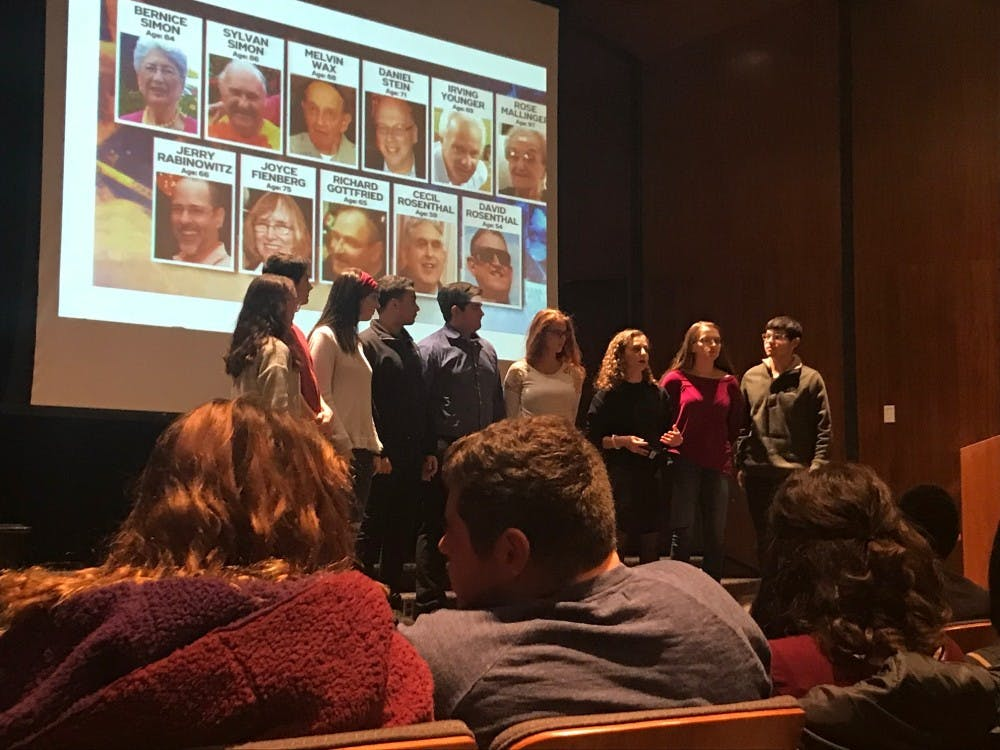 Students gathered Friday for a Union Board event in the Indiana Memorial Union to discuss the synagogue shooting that left 11 people dead.