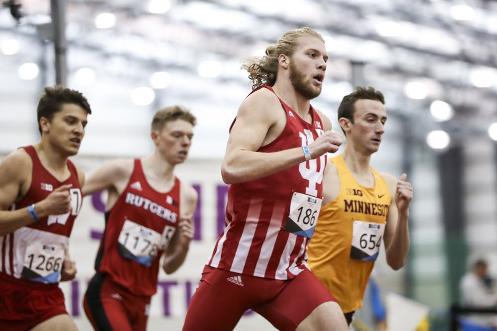 <p>Then-junior Cooper Williams competes in the 800-meter race during the Big Ten Indoor Championships on Feb. 28-29, 2020, at the SPIRE Institute in Geneva, Ohio. The Hoosiers are set to begin their season on Jan. 16 in Ann Arbor, Michigan. </p>