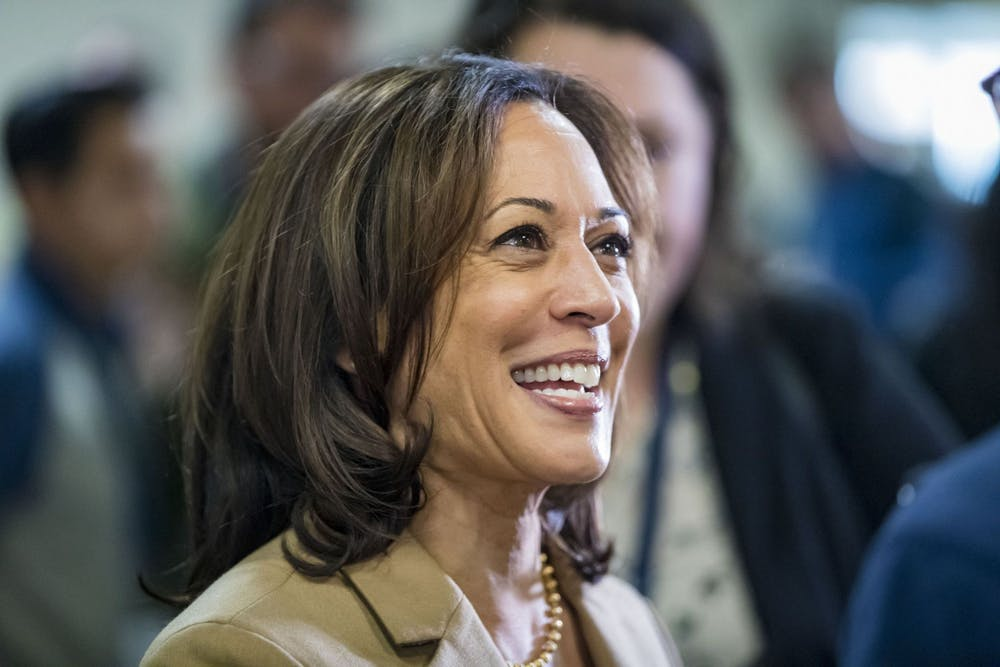 <p>Sen. Kamala Harriscampaigns during her then-presidential run Nov. 2, 2019, in Cedar Rapids, Iowa. Harris was named former Vice President Joe Biden&#x27;s running mate on the Democratic ticket for president last week.</p>