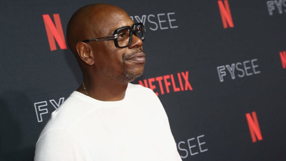 Dave Chappelle attends the Netflix FYSEE Kick-Off Event at Netflix FYSEE At Raleigh Studios on May 6, 2018, in Los Angeles.