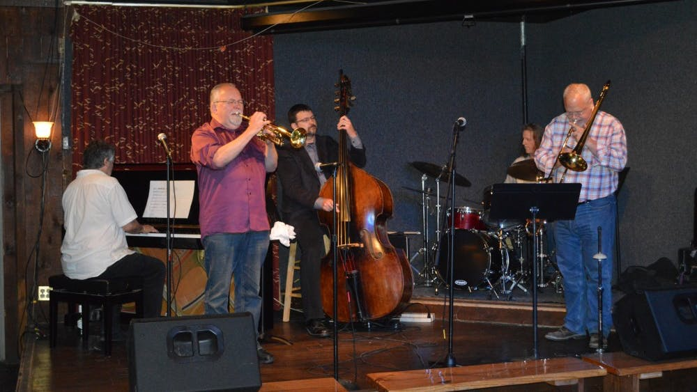 The Postmodern Jazz Quartet performs on the Bear's Place backroom stage in 2018 in the Jazz Fables Concert Series. The group will perform at 5:30 p.m. on Jan. 10 at Bear's Place.