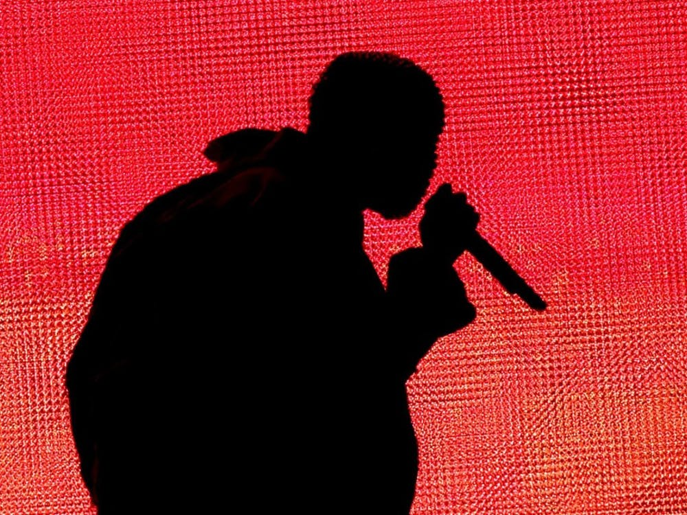 Rapper Kanye West performs during day one of the Outside Lands music festival at Golden Gate Park in San Francisco on August 8, 2014. The festival runs through Sunday. (Jane Tyska/Bay Area News Group/MCT)