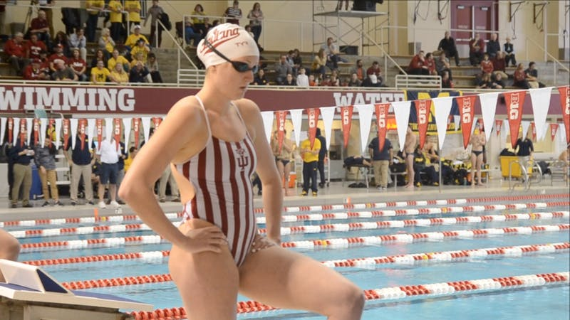 The women's swim and dive team competed against No. 2-ranked Michigan on Jan. 17 at the Counsilman Billingsley Aquatic Center. IU lost 128-172.