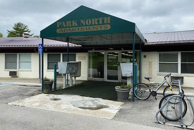 Park North Apartments are located at 2622 N. Walnut St. The apartments are part of Olympus Properties.