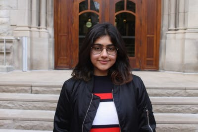 Hyra Basit is a graduate student in Design and Production. Basit helped found a cyber harassment helpline for the Digital Rights Foundation in 2016.