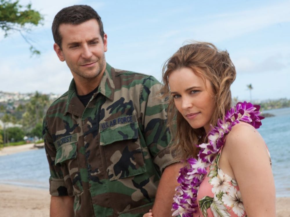 "Bradley Cooper and Rachel McAdams in ""Aloha."" (Neal Preston/Columbia Pictures)"