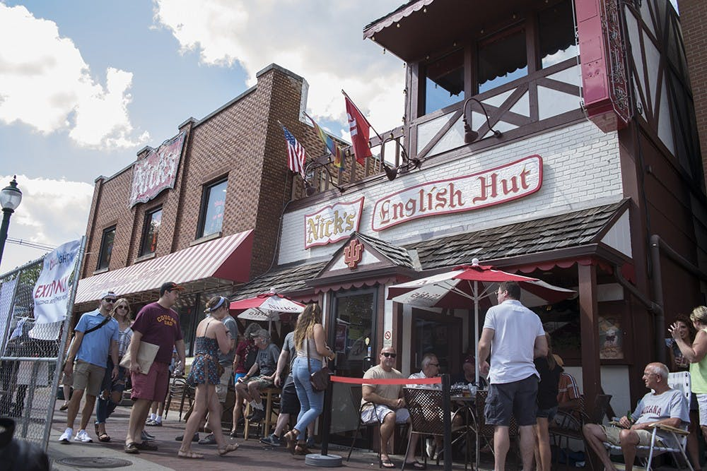 Nick's English Hut celebrated its 90th anniversary Saturday with a block party on Kirkwood Avenue. Local businesses and organizations set up tents between Dunn and Grant Streets.