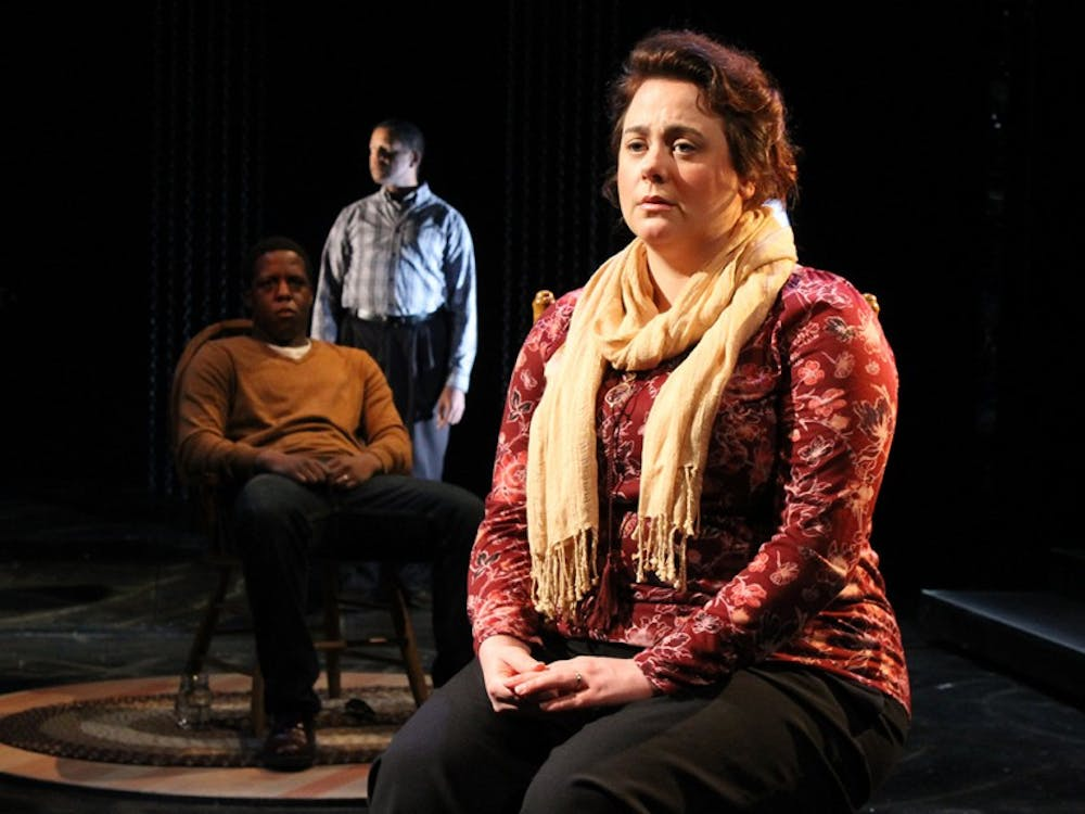 """Meaghan Deiter preforms as Sunny Jacobs in """"The Exonerated"""". The play will be preformed December 2, 3 and 6-9 in the Wells-Metz Theatre."""