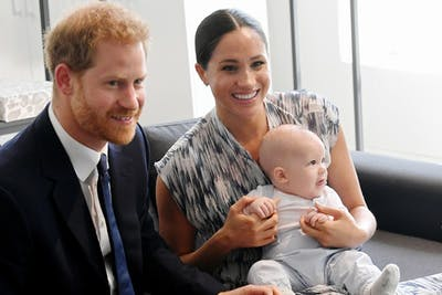 Prince Harry, Duke of Sussex, Meghan, Duchess of Sussex and their baby son Archie Mountbatten-Windsor meet Archbishop Desmond Tutu and his daughter Thandeka Tutu-Gxashe at the Desmond & Leah Tutu Legacy Foundation during their royal tour of South Africa in September in Cape Town, South Africa.