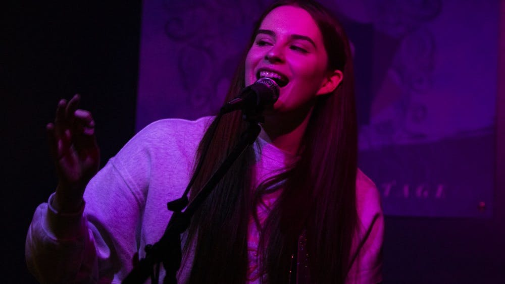Indianapolis singer Haley Jonay performs Oct. 5 at the Orbit Room during Midway Music Festival. The Midway Music Festival is a nonprofit based out of Bloomington that helps connect female musicians.