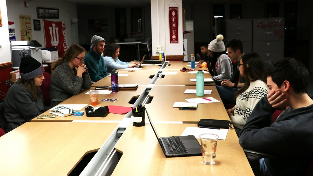 Members of the IU Student Government meet Jan. 21 in the Indiana Memorial Union activities tower. IUSG's new plans include increasing voting registration, expressing concerns about IU-Notify and planning equity training for staff.