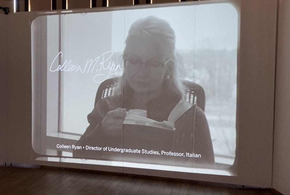 <p>A moving image portrait appears Saturday at &quot;The People of IU – Moving Image Portraits and the Public Screen&quot; exhibit at the Cook Center Grand Hall. The exhibit will feature the 16-millimeter film work of students in the Production of Criticism course this spring. </p>