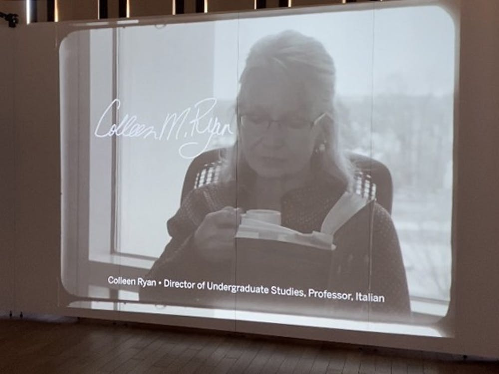 """A moving image portrait appears Saturday at """"The People of IU – Moving Image Portraits and the Public Screen"""" exhibit at the Cook Center Grand Hall. The exhibit will feature the 16-millimeter film work of students in the Production of Criticism course this spring."""