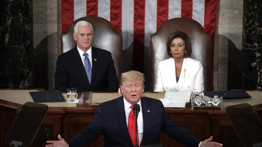 President Donald Trump delivers the State of the Union Address to a joint session of the U.S. Congress Feb. 4 on Capitol Hill in Washington, D.C.