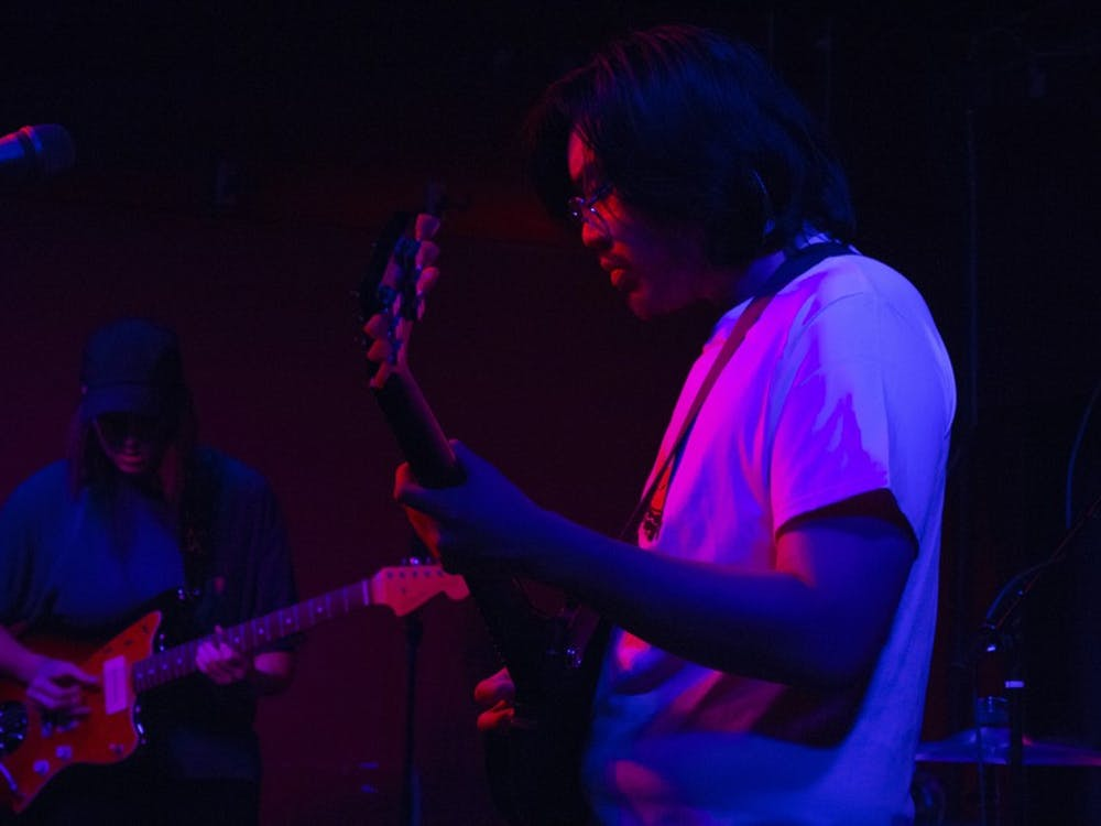 """Lauren Morgan and Jordan Shih of SALES performed at the Bishop Sunday evening. The band released its most recent album, """"Forever & Ever,"""" July 19."""