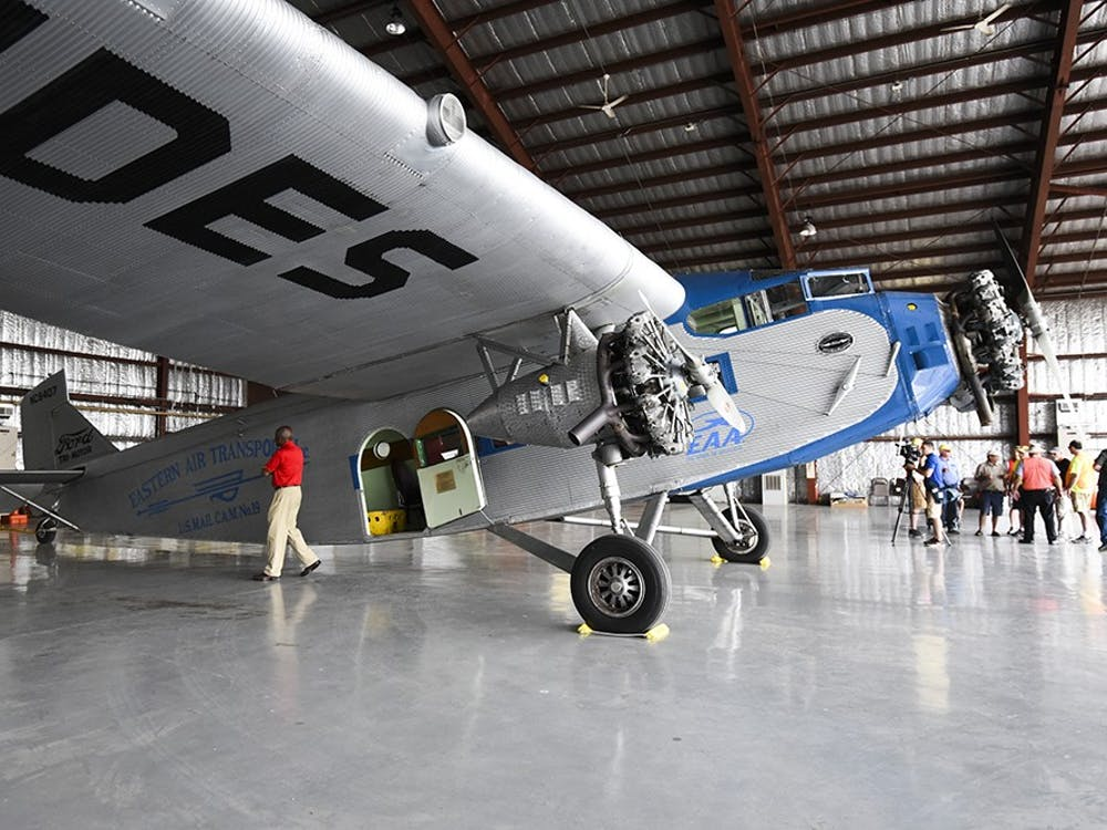 The Monroe County Airport allowed community members to purchase tickets to fly on the Ford Tri-Motor last week for their 75th anniversary. The plane is maintained by volunteers and rides last about 12 minutes.