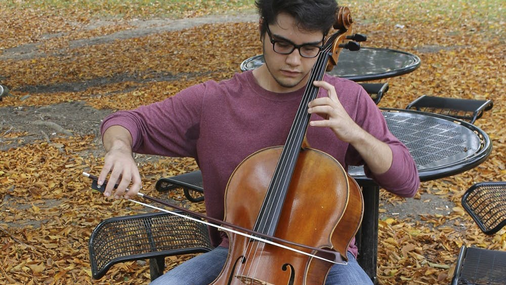 Jacobs student and cellist Zach Barnes recently recovered from muscle and nerve damage in his left hand.