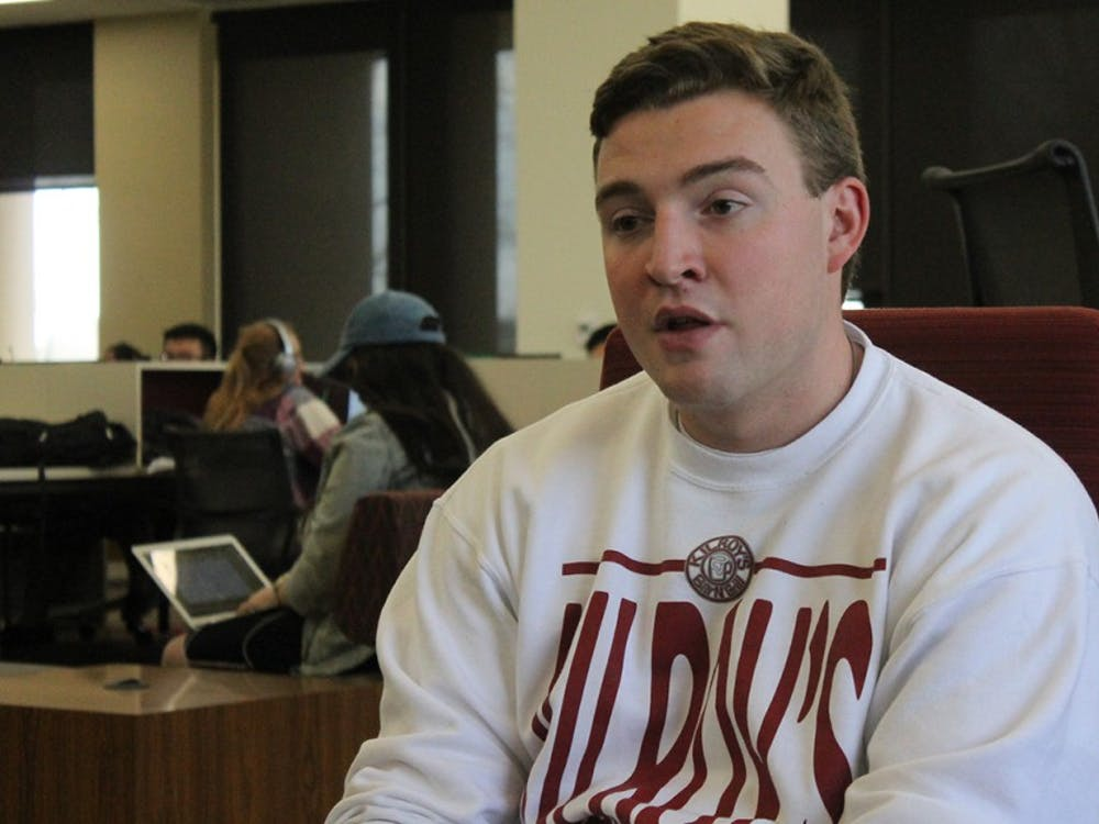 """Andrew Cowie, president of the Interfraternity Council speaks about how the IFC wants to create an internal evaluation plan. """"The ultimate goal is to assign chapters a scorecard that gives a chapter an evaluation,"""" Cowie said."""