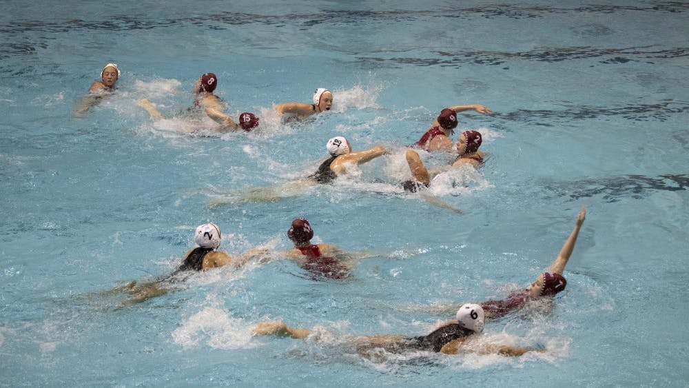 IU's water polo team attempts to score against California State University on March 3 in Counsilman Billingsley Aquatic Center. IU lost the match, 11-10.