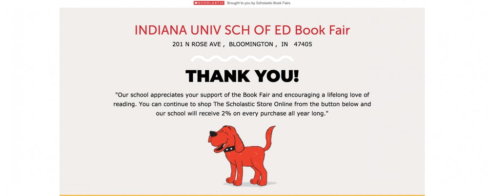 <p>A screen grab from the IU School of Education Book Fair site.</p>
