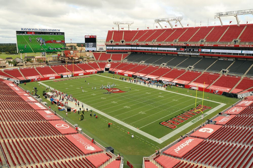 A general view during the game between the Carolina Panthers and the Tampa Bay Buccaneers at Raymond James Stadium on Sept. 20, 2020, in Tampa, Florida.