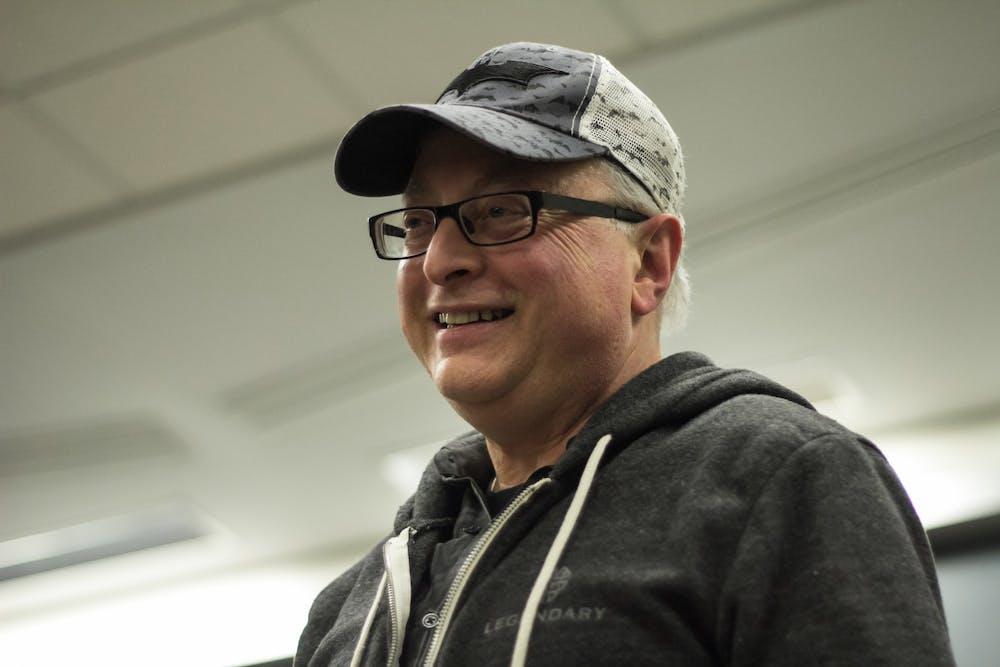 <p>Batman producer and IU alumnus Michael Uslan speaks Feb. 4,2015, in the Ernie Pyle Hall auditorium. Uslan will attend IU Cinema&#x27;s &quot;Constantine&quot; screening  Thursday.</p>