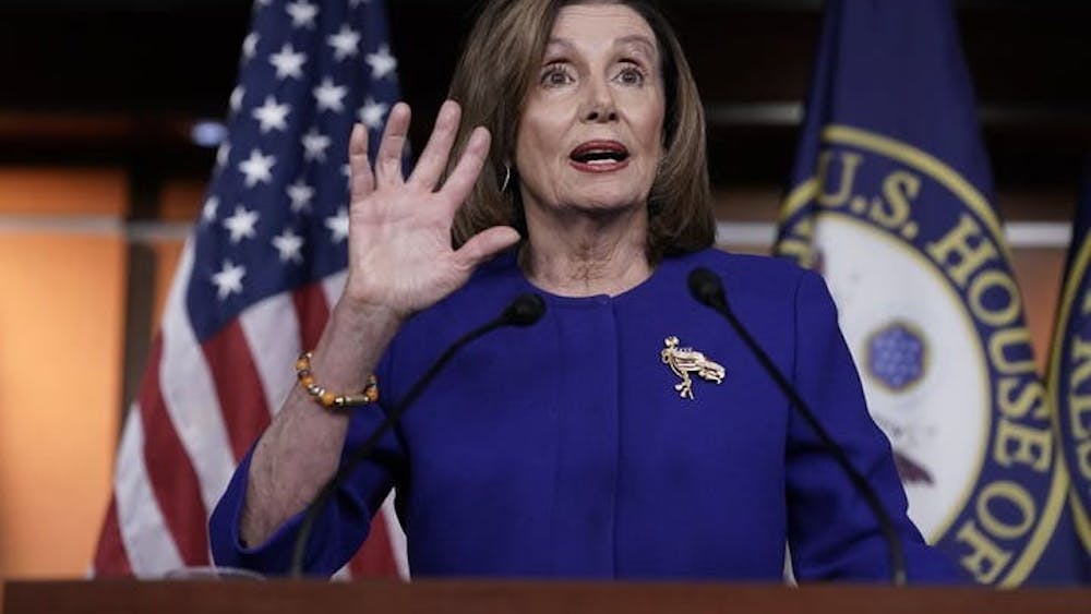 Speaker of the House Nancy Pelosi speaks in Washington D.C. Pelosi has been holding onto the impeachment articles.