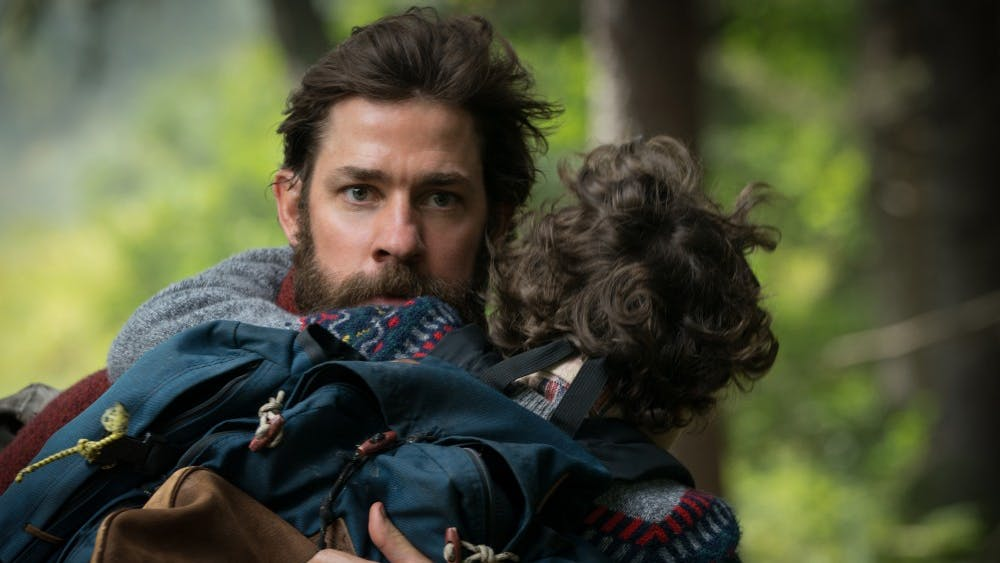 """John Krasinski plays Lee Abbott and Noah Jupe plays Marcus Abbott in """"A Quiet Place"""", from Paramount Pictures."""