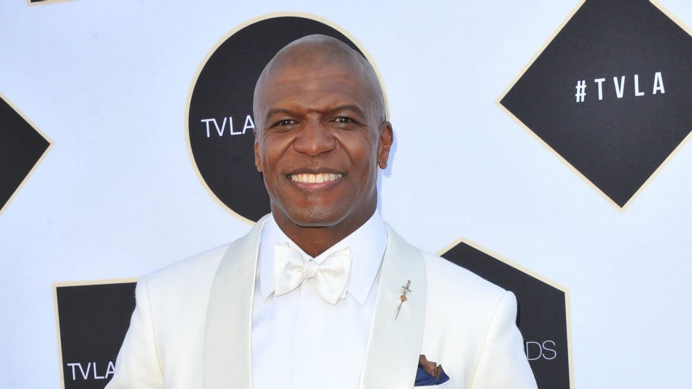 Terry Crews attends the 2015 TV Land Awards held at the Saban Theater in Beverly Hills, California, on April 11, 2015. Crews will be at the IU Auditorium on April 7.