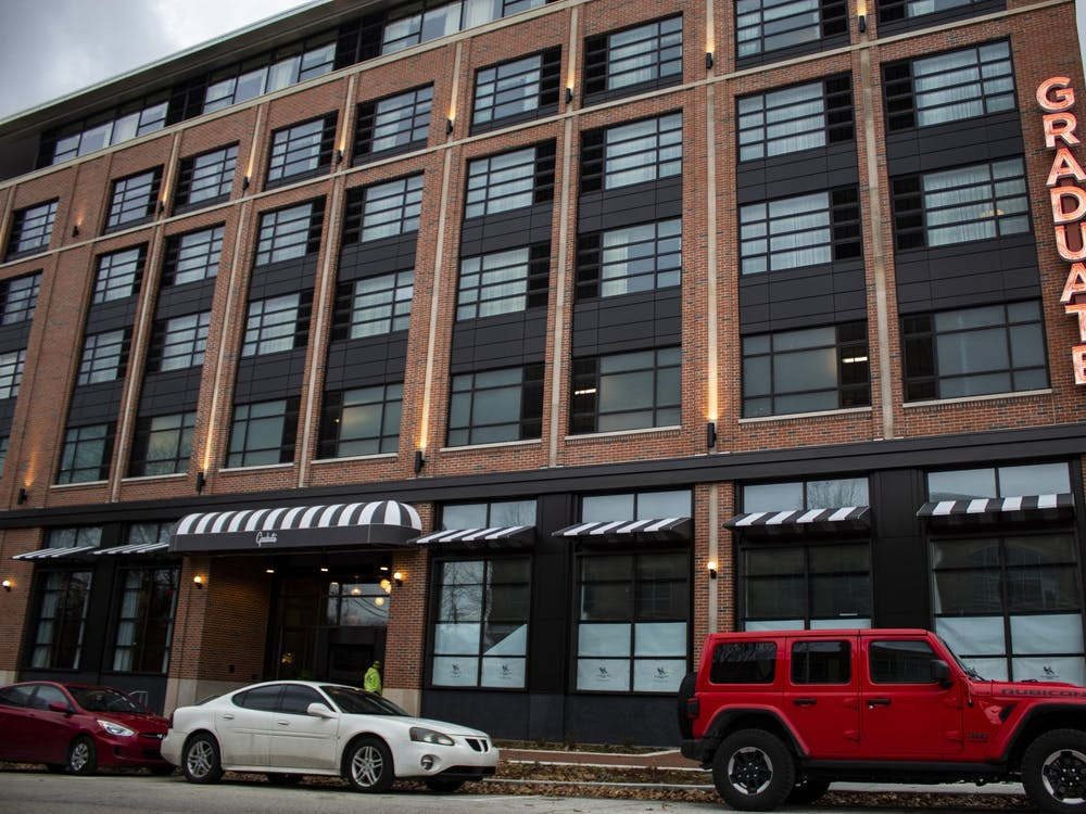 The Graduate Hotel is located at 210 E. Kirkwood Ave. IU is using Bloomington hotels to house some IU students for the 2020-2021 school year.