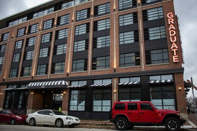 The Graduate Hotel is located at 210 E. Kirkwood Ave. IU will use Bloomington hotels to house some IU students for the 2020-2021 school year.