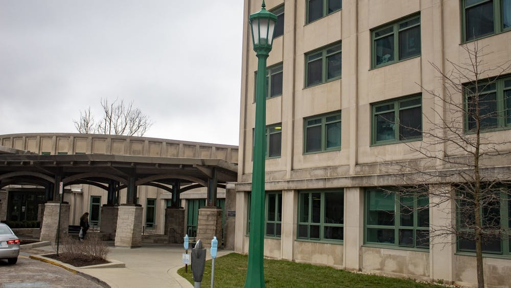 The outside of Briscoe Quadrangle is pictured March 10. Residence halls and dining halls will operate differently for the fall semester as a result of the coronavirus pandemic.
