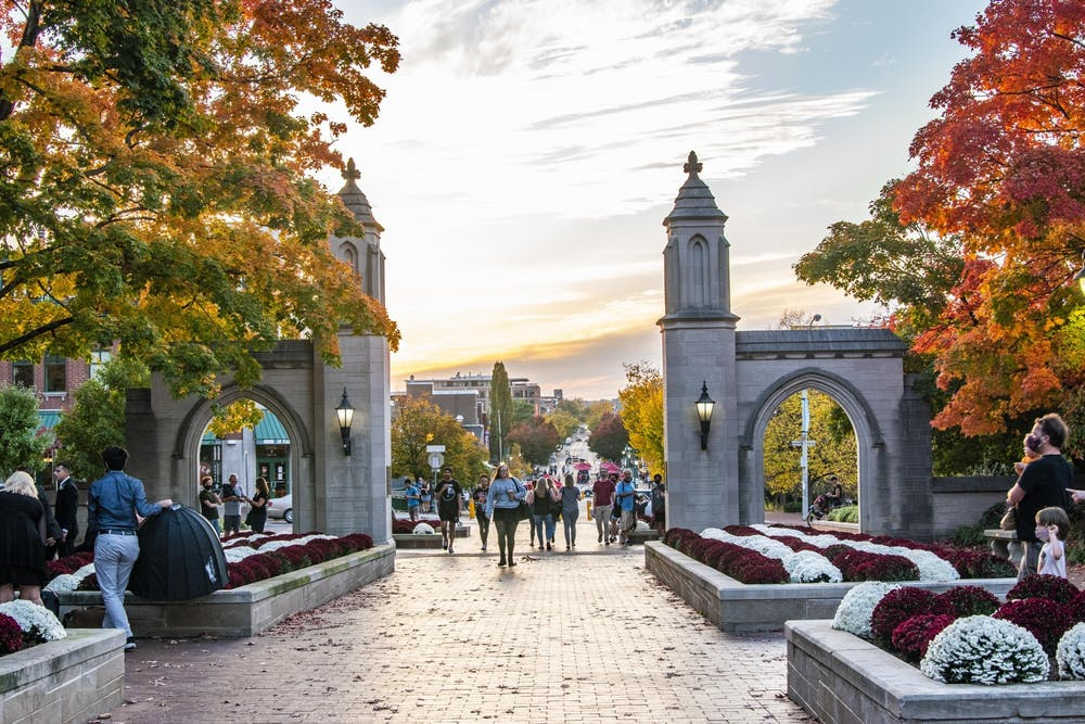 <p>Sample Gates is pictured. IU Student Government candidates focused on sustainability, mental health and inclusion during the debate Tuesday night ahead of the election Thursday and Friday.</p>