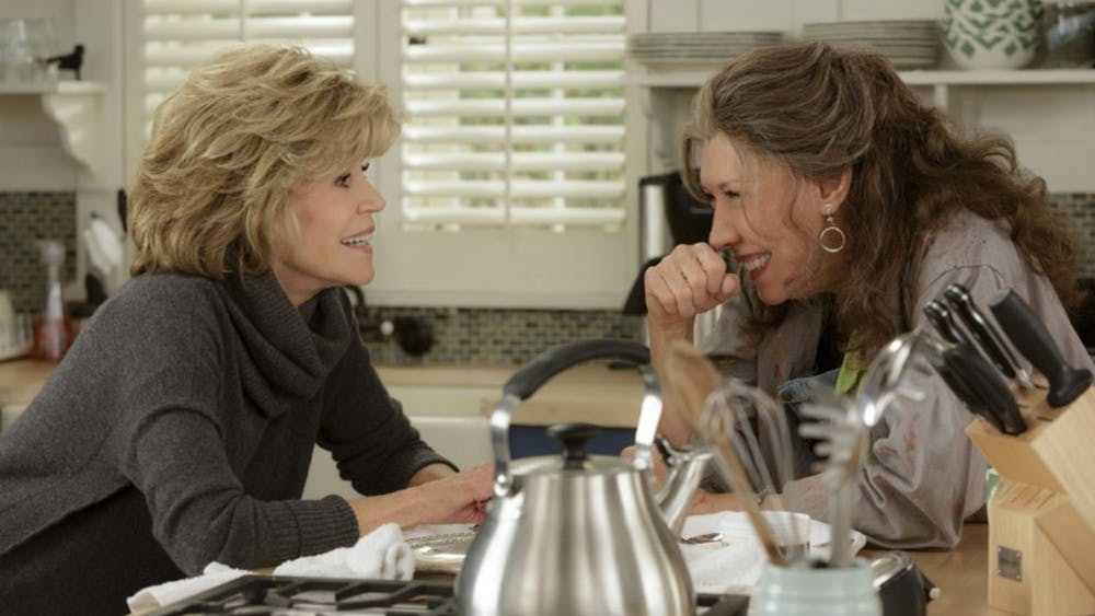 """Jane Fonda and Lily Tomlin in """"Grace and Frankie."""" (Melissa Moseley/Netflix)"""