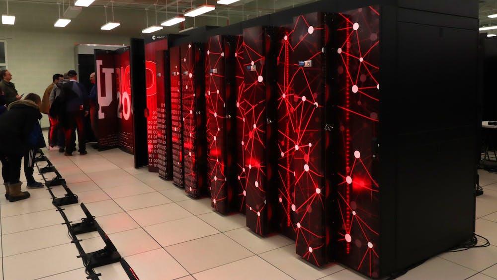 Big Red 200 Supercomputer sits Jan. 20 in the IU Data Center.