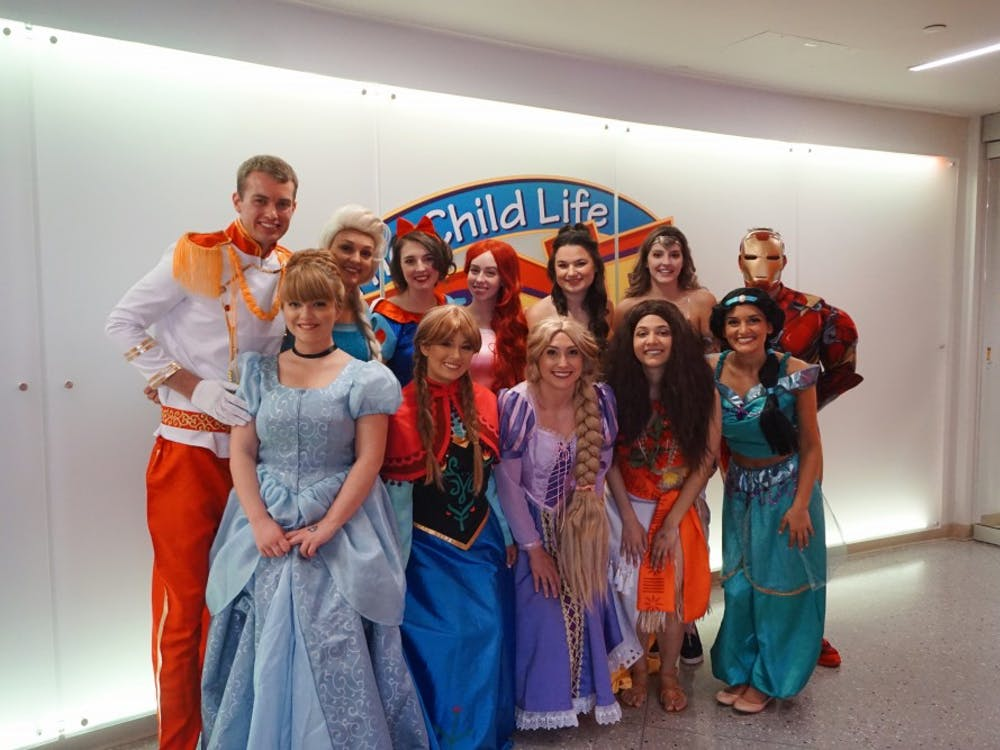 Royal Encounters at IU is a volunteer organization in which IU students dress up as popular children's movie characters and visit patients at the Riley Hospital for Children.