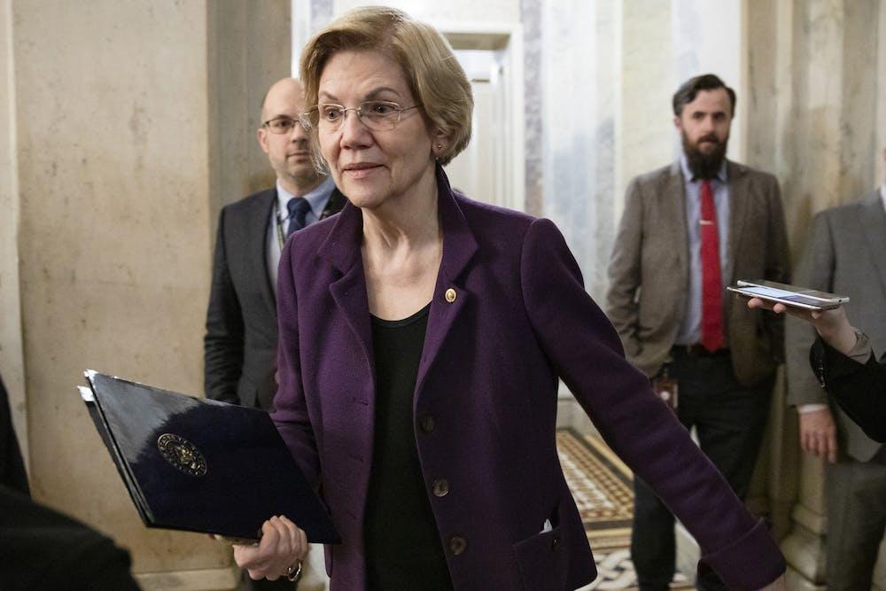 <p>Sen. Elizabeth Warren discussed her student loan debt relief plan Monday during a virtual press event.</p>