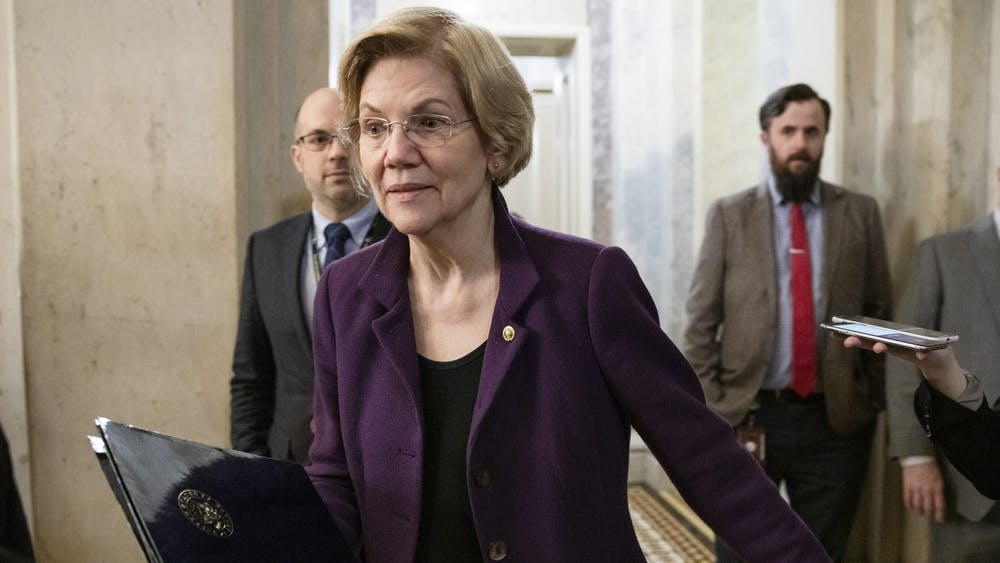 Sen. Elizabeth Warren discussed her student loan debt relief plan Monday during a virtual press event.