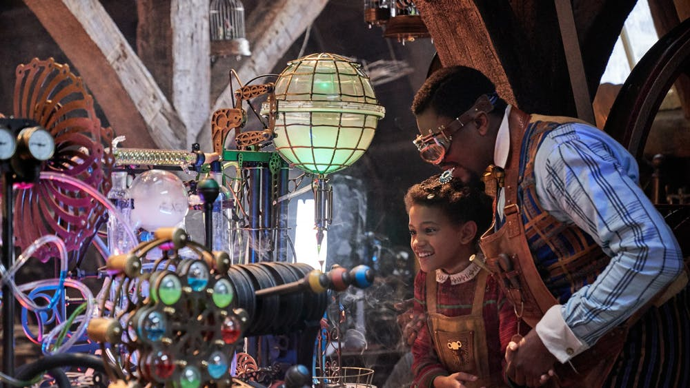 "Diaana Babnicova and Justin Cornwell star in ""Jingle Jangle: A Christmas Journey."""