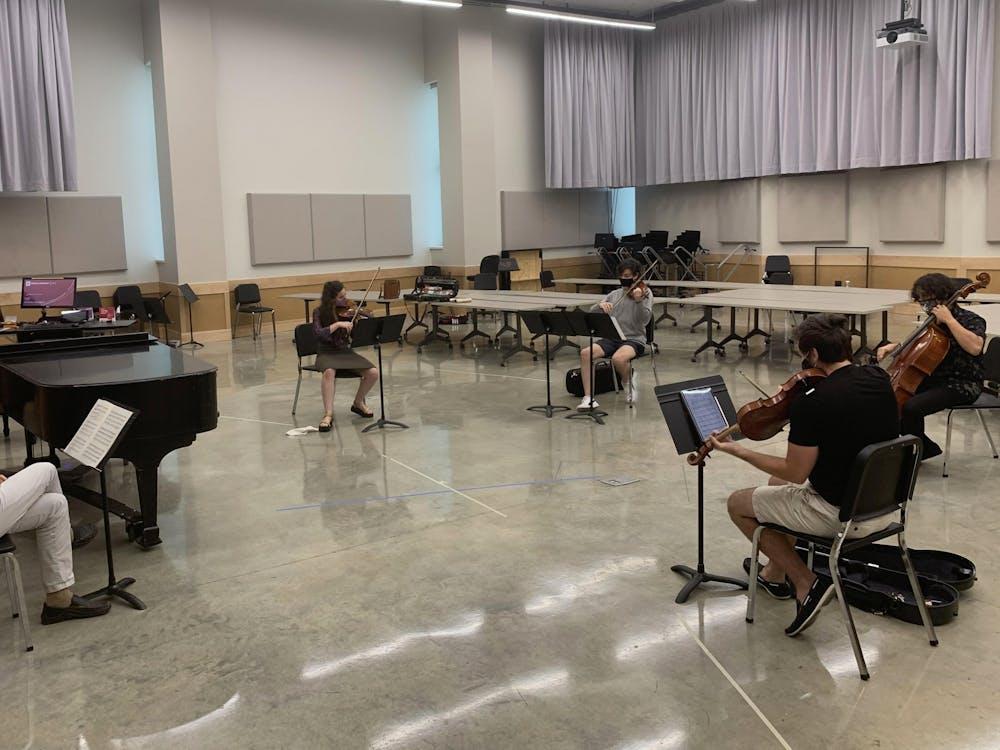 David Dzubay directs the IU New Music Ensemble. The IU New Music Ensemble will livestream their final performance at 8 p.m. May 6 via IUMusicLive!.