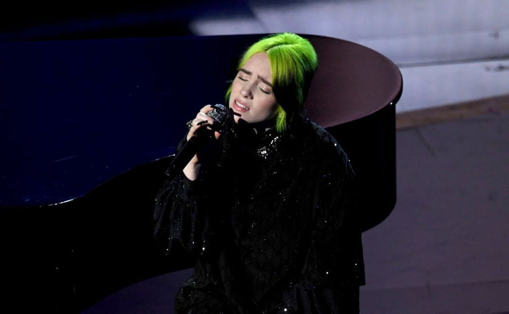 Billie Eilish performs during the 92nd Annual Academy Awards at Dolby Theatre on Feb. 9, 2020, in Hollywood, California.