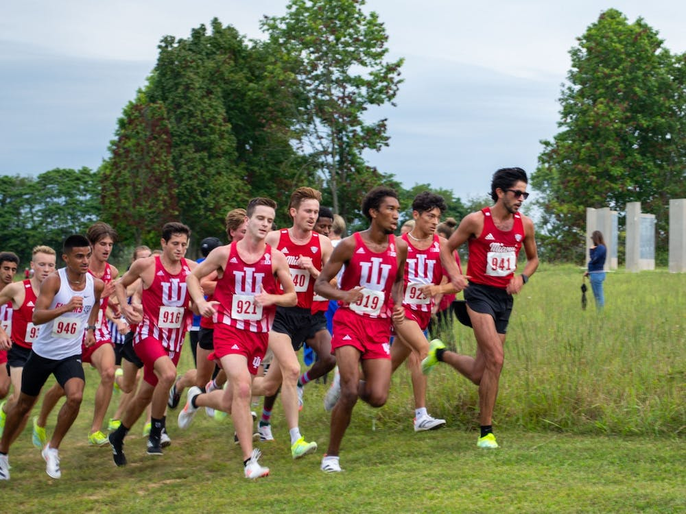 Indiana men's cross country won the 8K on Sept. 4, 2021, at the IU Championship Course. Indiana came in second in both the men's and women's race.