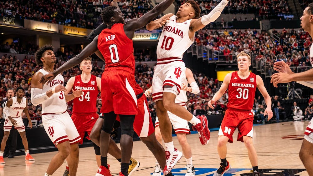 Then-sophomore guard Rob Phinisee attempts a layup March 11 in Bankers Life Fieldhouse in Indianapolis. The NCAA announced Wednesday that college Division I basketball will start Nov. 25.