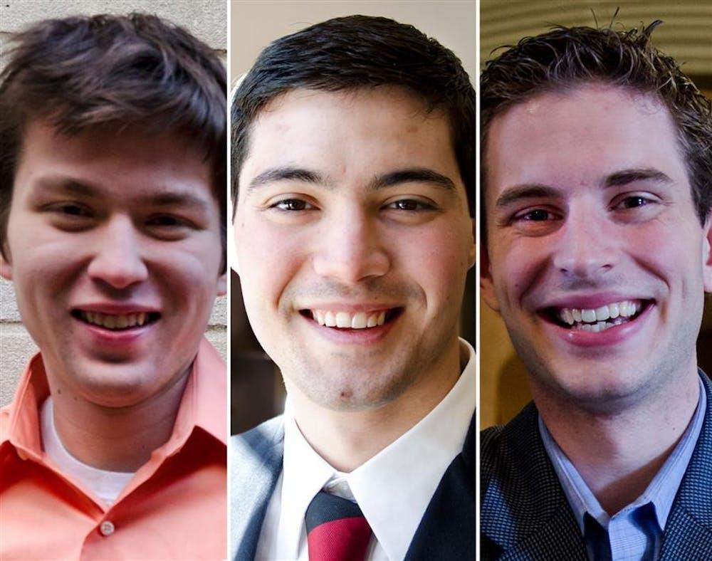 From left to right: Sidney Fletcher, Jose Mitjavila and Casey Shelburne
