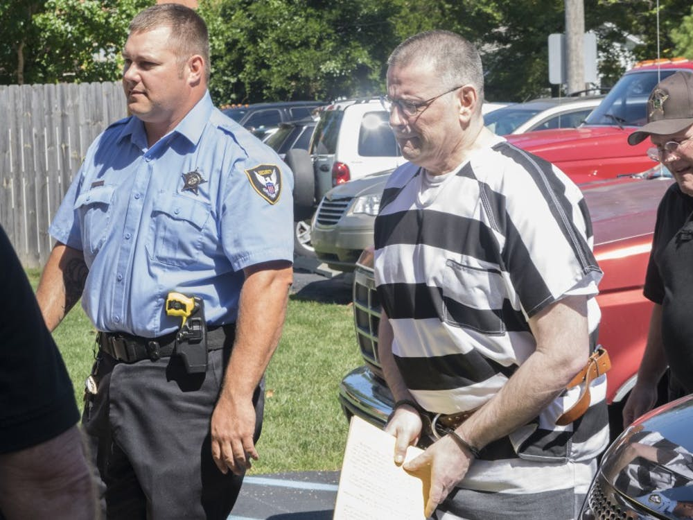 Daniel Messel is escorted to the Brown County Circuit Court in 2016. Messel was sentenced to 80 years in prison the murder of Hannah Wilson in April 2015.